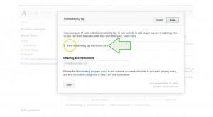 add remarketing to wordpress -step 10