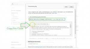 add remarketing to wordpress - step 11