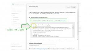 add remarketing to wordpress - step 11