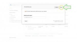 add remarketing to wordpress - step 9